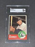 1963 Topps #94 Bob Schmidt SGC 5 Newly Graded & Labelled