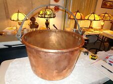 LARGE APPLE BUTTER COPPER CAULDRON POT/KETTLE