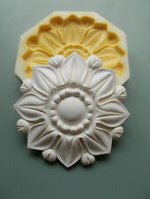 Tudor Rose Style Ceiling Rose Wall Plaque Silicone Rubber Mold