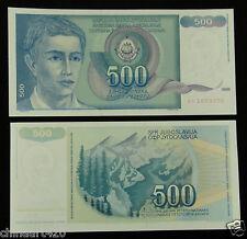 YUGOSLAVIA Paper Money 500 Dinara 1990 UNC