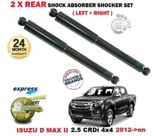 for ISUZU D MAX II 2.5 CRDi 4x4 2012->on 2X REAR LEFT RIGHT SHOCK ABSORBERS SET