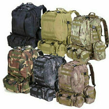 Outdoor Military Molle Tactical Backpack Rucksack Camping Travel Hiking Bag 55L