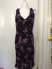 LADIES SELECT SIZE 18 MULTI COLOURED FLORAL SLEEVELESS LONG LENGTH DRESS