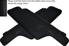 BLACK STITCH FITS PORSCHE 911 1969-1973 2X SUN VISORS LEATHER COVERS ONLY