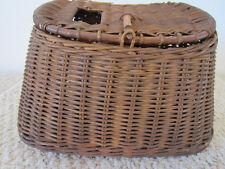 Vintage Fresh Water Basket Weave Fishing Creel