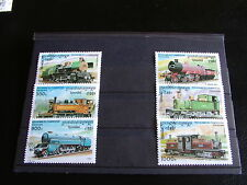 TIMBRES TRAINS : SERIE COMPLETE DU CAMBODGE 1996