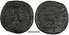 ROMAN.ROME OTACILIA SEVERA, WIFE OF PHILLIP I (AD244-49)AE SESTERTIUS/CONCORDIA