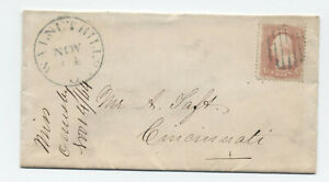 1864 Walnut Hills Ohio #65 3ct 1861 cover to Alphonso Taft [4919.361]