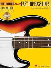 Hal Leonard Guitar Method: Easy Pop Bass Lines with CD