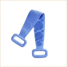 US Silicone Bath Towel Rub Brush Pull Back Strip Scrubber Exfoliating Scrub Tool