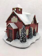 School Building Thomas Kinkade Christmas Collection Hawthorne Village