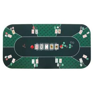 8 Player 70.5'' x 35.5'' Poker Mat Portable Rubber Table Top Layout Cards Games