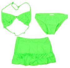 Ropa de baño de niña de 2 a 16 años bikinis verdes