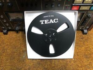 "NEW Black Teac Reel 7"" LIGHT METAL REEL 1/4"" Tape  Aluminum Made in US"