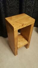Solid Pine Handmade Rustic Bedside/Sofa Table selection of 5 colours/ 50x25x20cm