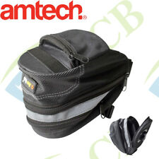 BLACK BIKE CYCLING SADDLE SEAT BAG POUCH BICYCLE TAIL REAR STORAGE UK