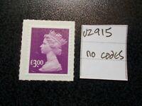 GB 2009++ Security Machin~£3~SG U2915~no codes~S/A~Unmounted Mint~UK