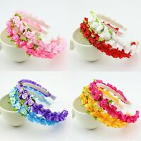 3pcs Cute Hair Band Rose Flowers Headwear Headband for Infant Baby Girls   66