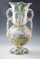 ANTIQUE ZACCAGNINI MAJOLICA ISTORIATO LAMP-LAMP BASE SCENIC HAND PAINTED #5