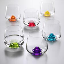 Wassergläser Kristall Bohemia, Model  Island, 6 x 310 ml, verschiedene Farben