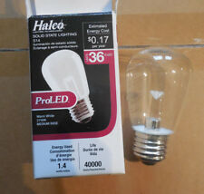 New Case of 25 Halco Scoreboard LED Light Bulbs 80522 Medium Base Dimmable