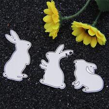 3X Rabbit Metal DIY Cutting Dies Stencil Scrapbooking Album Card Embossing Craft