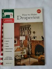 Vintage 1960 Singer Sewing Library How To Make Draperies 32-page Booklet #102