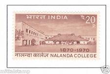 PHILA507 INDIA 1970 SINGLE MINT STAMP OF NALANDA COLLEGE MNH