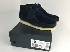 Clarks Wallabee Women Navy Suede Water Resistant Lace Up  Boots Size UK 5.5 EU39