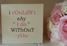 Will you be my bridesmaid, best man, maid of honour. Vintage bold. Handmade card