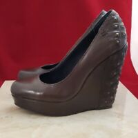 Calvin Klein Jeans Dark Brown Wedges Size 6