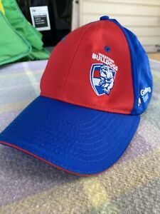 Western Bulldogs Strap Back Cap Hat Asics 2018 Members - Official On field AFL