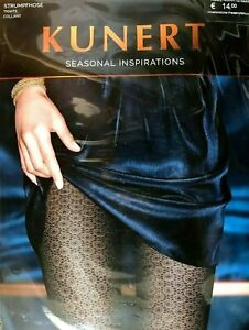 """Kunert """" Seasonal Inspirations """" Tights with Floral Pattern, Pink, Size 40-42"""