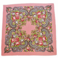 Women's Cotton Square Scarf Russian Folk Vintage Style Bandana Wraps Hijab