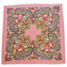 Women's Cotton Square Scarf Russian Folk Vintage Style Bandana Wraps Hijab