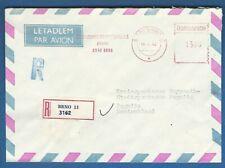 TSCHECHOSLOWAKEI  (705 76) R-BRIEF EINSCHREIBEN BRNO  NACH BAYREUTH PEGNITZ 1992