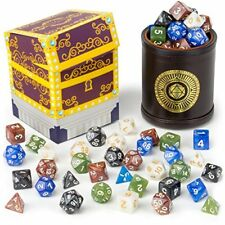 Wiz Dice Cup of Plenty: 35 Polyhedral Dice in 5 Complete Sets & Dice Cup