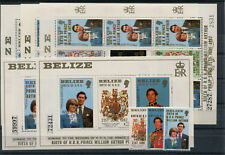 Belize 679/84 3 Kleinbogen Block 54 I + II postfrisch / Lady Di ..........2/1788