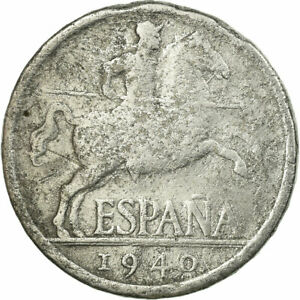 [#721487] Coin, Spain, 5 Centimos, 1940, VF(20-25), Aluminum, KM:765