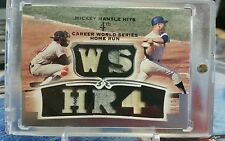 2006 MICKEY MANTLE Topps Sterling Game Worn Used Patch Bat Relic Prime TRUE 1/1
