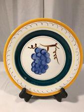 "Vintage Stangl Fruit Yellow Trim Salad Plate 8 1/4"" Grapes Art Pottery"