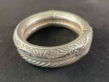 ANTIQUE HANDMADE SILVER INDIAN BRACELET
