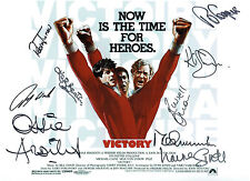 Escape To Victory Squad Signed Autograph 16x12 Photo AFTAL COA Ardilles Wark ETC