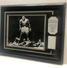Muhammad Ali Worn Fight Robe #34/200 Photo Vs Sonny Liston With COA 13x16 Frame
