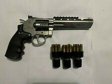 """New listing ASG CO2 Dan Wesson 6"""" Revolver airsoft 18 rounds 3x speedloaders"""