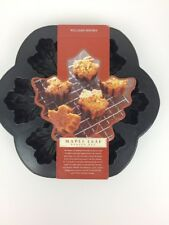 Maple Leaf Baking Pan 6 Cavities Non Stick Williams Sonoma by Nordic Ware  New