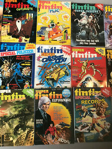 Rare lot 13 Super Tintin  Spécial Récits complets Lombard 78 79 80 81 82 MOEBIUS