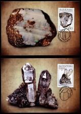 Mineralien. Opal, Quarz. 2 Maximumkarten. Slowakei 2013