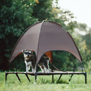 Elevated Pet Bed Dog Cat Tent Outdoor Sun Canopy Mesh Breathable Puppy Bed