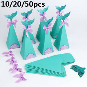 Wedding Supplies DIY Crafts Candy Bag Mermaid Theme Party Gift Box Sugar Case